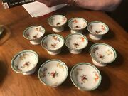10 Noritake M Antique Open Salt Cellars Small Footed Floral Bowls