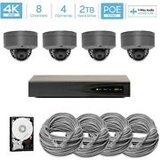 Hikvision 4k Nvr 8mp Microphone Outdoor Poe Ip 4k Security Cctv Camera System