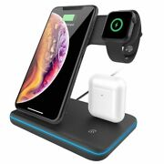 Wireless Charger For Iphone 15w Fast Qi Charging Dock Station For Apple Airpods