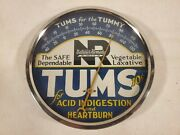 Vintage Tums For The Tummy Round Advertising Thermometer
