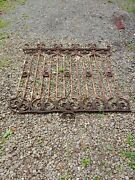 Antique Wrought Iron Fence Panels, 18' 4 Pcs Salvaged, Privacy Screens, Security