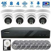 4k Nvr 8mp Ai Microphone Outdoor Indoor Poe Ip 4k Security Cctv Camera System
