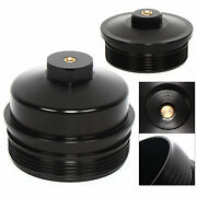 Billet Aluminum Oil And Fuel Filter Caps For 03-07 Ford 6.0l Powerstroke Diesel Us