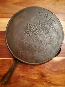Vintage Erie Cast Iron Skillet 8 With Heat Ring Circa 1885-1905.
