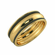 Real Plain Wedding Ring Solid 14k Yellow Gold Men's Band Size 9 11 12