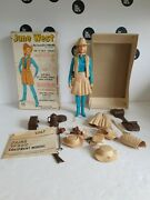 Vintage 1965 Louis Marx Johnny West Figure 'jane West' Boxed With Accessories