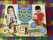 Melissa And Doug Train And Jump Horse Show Play Set With Plush Stuffed Animal New