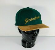Vintage 1990s Steamboat Colorado Usa Wool Blend Leather Strap Baseball Cap Hat