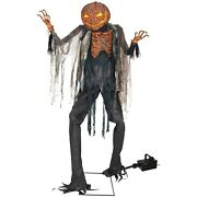 Morris Costumes Halloween Scorched Scarecrow With Fog Machine 7 Ft.