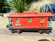 Vintagered Metal, Post War Lionel Electric Train Caboose 2657..o Scale