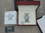 Gevril Yorkville Swiss Automatic Black Dial Mens Stainless Steel Date Watch