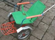 Old, Vintage, Retro, Wheelchair, A Baby Carriage For A Child Of The Ussr 1970s
