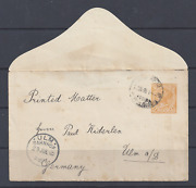 Western Australia 1905 2d Yellow Ps Envelope Addressed To Germany  Handg B2a