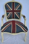 Louis Xv Arm Chair French Style Chair Vintage Furniture United Kingdom Flag