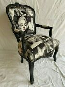 Louis Xv Arm Chair French Style Chair Vintage Furniture Marilyn Black