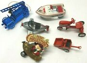 Set Of 6 Antique Toy Cars Vehicles Hallmark Murray Ornaments