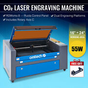 Omtech 60w 16 X 24 Inch Co2 Laser Engraver Engraving Machine With Rotary Axis C
