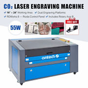 Omtech 60w 16 X 24 Inch Co2 Laser Engraver Engraving Machine With Rotary Axis B