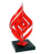 Awesome Painted Aluminum With Metal Base Infinity Signed And Num