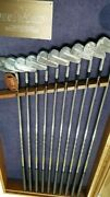 Ben Hogan Personal Limited Edition Display Iron Set 2-sw Calf Leather Grips New