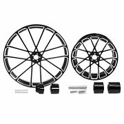 30 Front 18and039and039 Rear Wheel Rim And Hub Fit For Harley Touring Road King 2008-2021