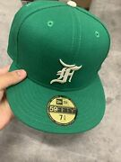 Fear Of God Andldquoessentialsandrdquo X New Era Fitted Hat Size 7 3/8 Kelly Green/white