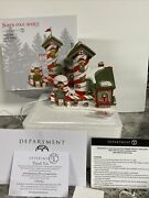 Dept 56 Candy Cane Striper Animated Lighted Christmas Village Peppermint