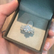 Solid White Gold Round Cut 14k Real 1.00ct Diamond Engagement Size 6 Ring