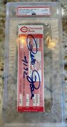 Pete Rose Signed Autographed Full Ticket Passing Cobb All Time Hits Leader Psa