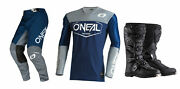 Oneal Mayhem Hexx Blue/grey Jersey Pant Boots Combo