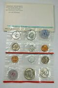 1964 Us Mint 10 Coin P D Uncirculated Set Ogp ☆1 Set From Lot☆