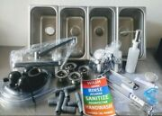 Portable Concession Sink 4 Compartment Small Kit And Drain Traps Plumbing Kit