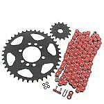 03-08 For Suzuki Ltz400 Z400 400 520-96 Red O Ring Chain And Sprocket Silver 14/40