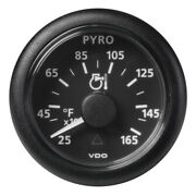 Veratron 52 Mm 2-1/16 Viewline Pyrometer 250anddeg To 1650anddegf - Black Dial And Bezel