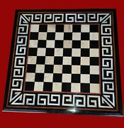 Black Marble Coffee Table Top Unique Design Game Table For Kids Room 24 Inches