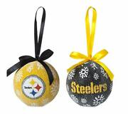 Team Sports America Pittsburgh Steelers Official Nfl Led Box Set Ornaments