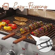 Kabob Grilling Baskets Nonstick Grill Baskets Outdoor Grilling With Handle,
