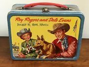Vintage 1957 Roy Rogers And Dale Evans Bullet Tv And Movie Western Lunch Box-hi-end