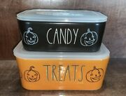 Nib Halloween 2021 Rae Dunn Treats And Candy Ceramic Food Storage Containers