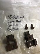 1963 Ford Galaxie Big Block Lower Radiator Brackets With Grommets