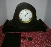 Antique Sessions Mantel Clock Parts Not Working With Key And Pendulum