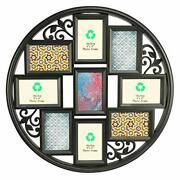 4x6 Collage Picture Frames For Wall 9 Openings Multi Photo Frame Decor Black