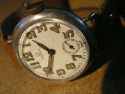 Vint. Military Omega Trench Wristw. Sterl. Silver Enamel Ww1 Orig. Cond. Ca1918