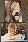 1996 Topps Barb Wire Movie Pamela Anderson Laser Cut Insert Cards L3 And L4