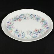 Wedgewood Bone China Angela Oval Perfume Tray Pink Blue Butterflies And Flowers
