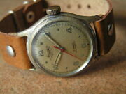 Vintage Minerva Military Wrist Watch Cal.49 Sweep Seconds Orig. Condition Ww2