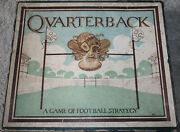 Rare 1914 Antique Quarterback Football Board Game Complete Spinner Wooden Ball