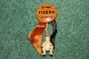 Scarce 1935 Detroit Tigers Baseball Pin With Hanging Catcher World Series