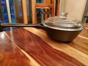 Griswold Hearthstone Ghc Cast Iron Sauce Pan 1-1/2 Quart, With Glass Cover, Rare