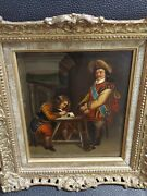 Antiqueartist Senlonry 1710-1740 Italian Oil Painting Cover A Silver Plate.